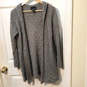 Cynthia Rowley cashmere gray cardigan sweater
